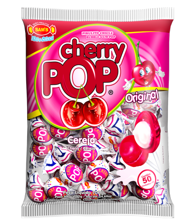 Cherry Pop - Embalagem Pirulito Cherry Pop Cereja