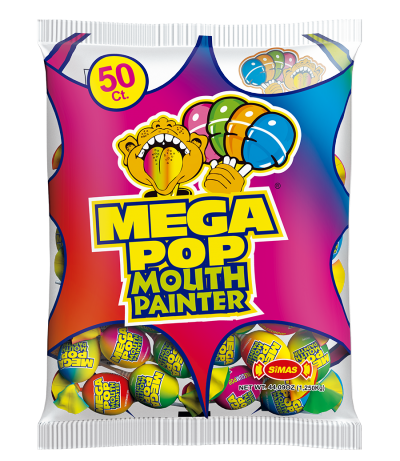 Mega Bubble Gum Pop 50ct -