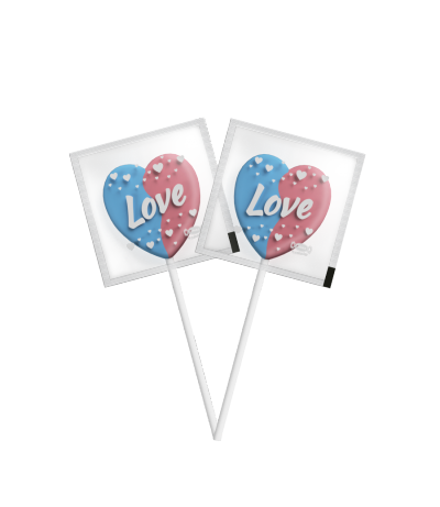 Flat Love Pop Cotton Candy -
