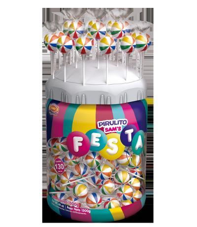 Pirulito Sam's Festa Frutas – Expositor 130un -