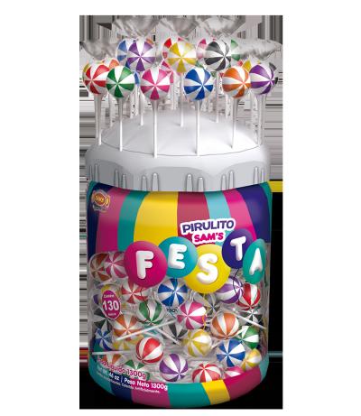 Pirulito Sam's Festa Mix – Expositor -