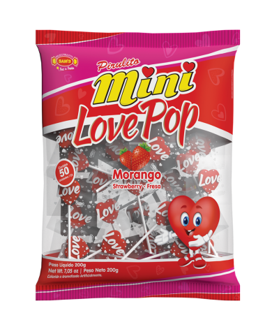 Mini Flat Love Pop Strawberry -