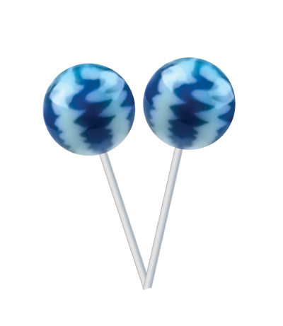 Original Gourmet Lollipop (31g) – Blueberries & Cream -