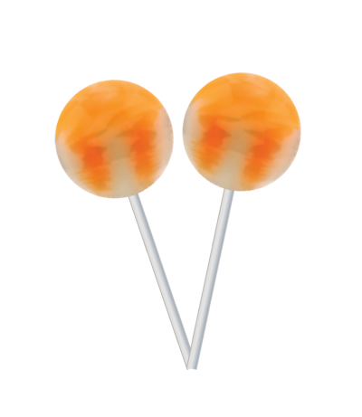 Pirulito Original Gourmet Lollipop (31g) – Laranja com creme -